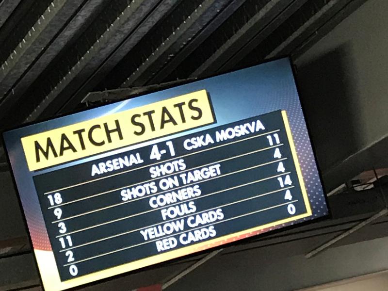 Arsenal v CSK Moscow