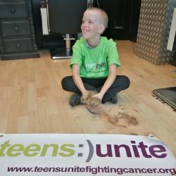 Luke, Aged 8, Raises over £370 for Teens Unite